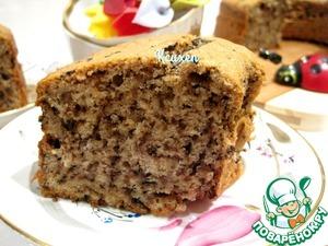 Рецепт Шоколадно-ореховый кекс на сметане