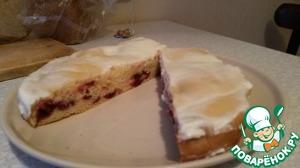 Рецепт Вишневый пирог из жидкого дрожжевого теста