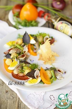 Салат с сельдью вкусный рецепт приготовления с фото