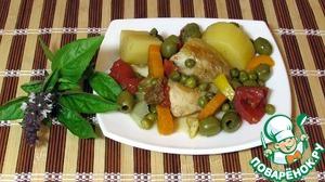 Рецепт Таджин с курицей и оливками