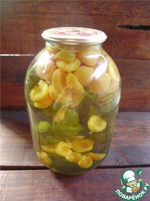 Компот с мятой и лимоном на зиму