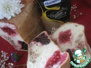 Хлеб-пирог со смородиной