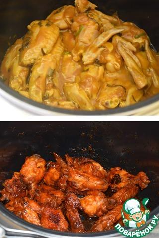 Куриные крылышки в мультиварке рецепты с пошагово в