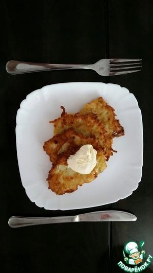 Кабачково-картофельные драники вкусный пошаговый рецепт с фотографиями