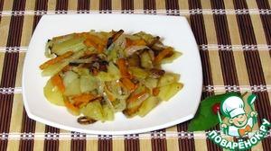 Жареная картошка с морковью домашний рецепт приготовления с фото пошагово готовим