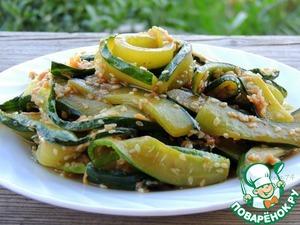 Рецепт Салат из жареных огурцов по-корейски