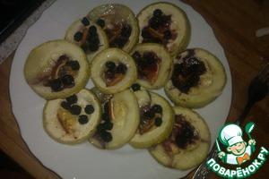 Рецепт Печеные кабачки с черноплодной рябиной