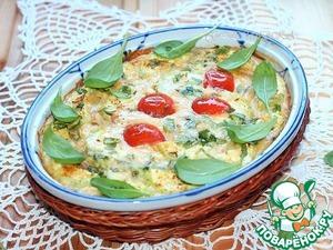 Рецепт Кабачковая запеканка со сливочным сыром