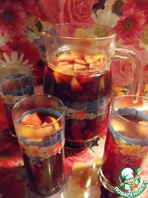Рецепт Чай с печеными ягодами и фруктами