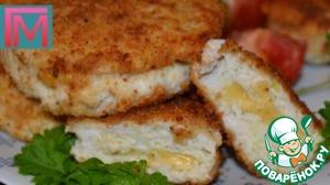 Рецепт Кабачковые котлетки с куриным филе и сыром
