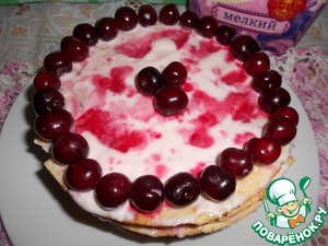 Рецепт Вишневый торт на сковороде