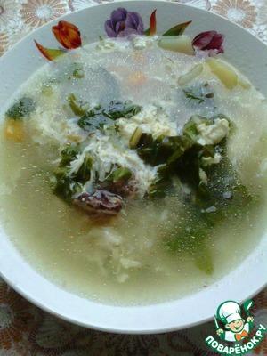 Рецепт Суп с куриными спинками и яйцом
