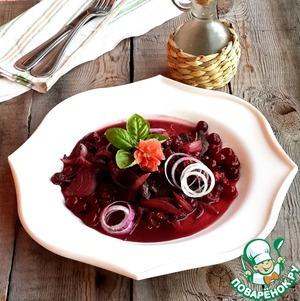 Рецепт Печень в вине с вишнями
