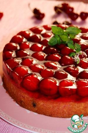 Рецепт Летний пирог с черешней и желе