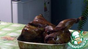 Рецепт Курица горячего копчения-Пикантная