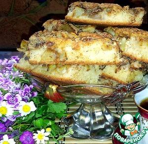 Рецепт Открытый яблочно-грушевый пирог