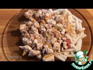 Рецепт Гуляш из куриного филе с травами и аджикой