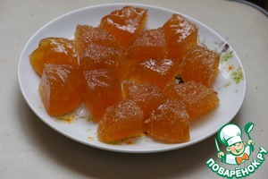 Готовим простой рецепт приготовления с фотографиями Апельсиновый мармелад за 10 минут