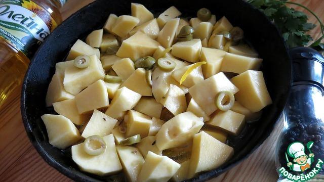 Картофель, тушенный с оливками и лимоном рецепт с фото готовим #5