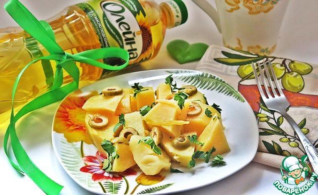 Картофель, тушенный с оливками и лимоном рецепт с фото готовим #6