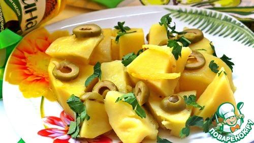 Картофель, тушенный с оливками и лимоном рецепт с фото готовим #10