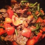 Таджин из говядины с овощами