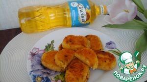 Рецепт Кукурузные котлетки с черемшой постные