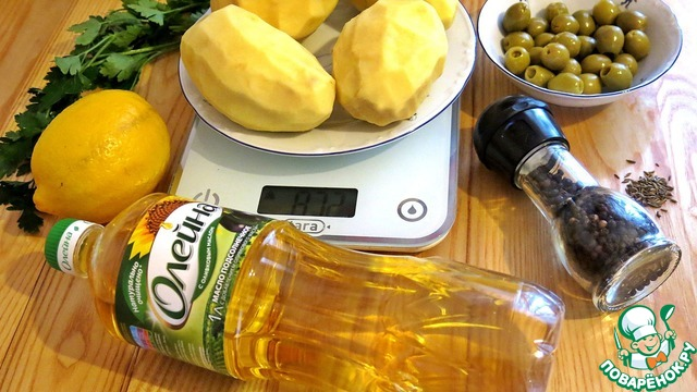 Картофель, тушенный с оливками и лимоном рецепт с фото готовим #1
