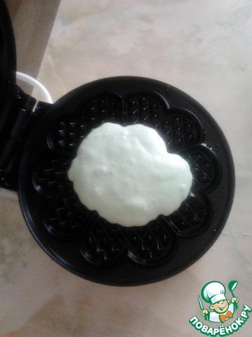 Как готовить простой рецепт с фото Мятные вафли #8