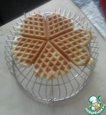 Как готовить простой рецепт с фото Мятные вафли #9