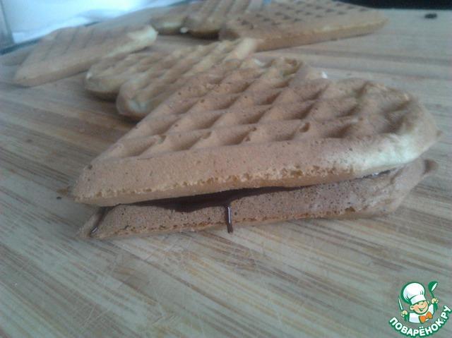 Как готовить простой рецепт с фото Мятные вафли #10