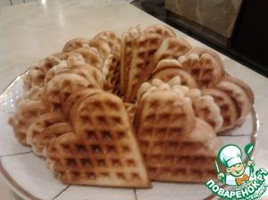 Как готовить простой рецепт с фото Мятные вафли на Новый Год