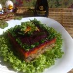Постный салат с соевым соусом