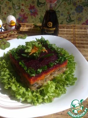 Постный салат с соевым соусом домашний рецепт с фотографиями пошагово как приготовить