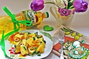 Рецепт Картофель тушеный с оливками и лимоном