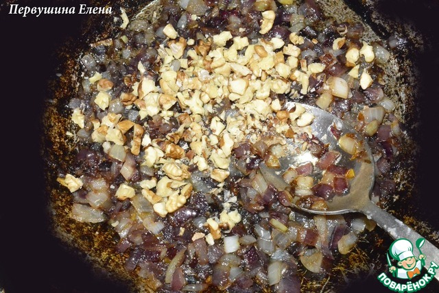 Паста ореховая с луком простой рецепт с фото #5