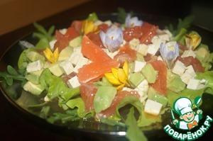 Рецепт Весенний цитрусовый салат