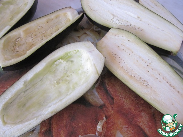 Готовим рецепт с фото Баклажаны с овощной начинкой #1
