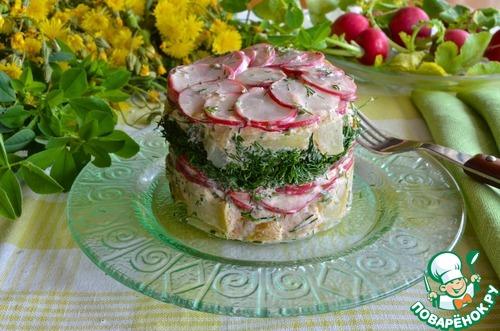 """Картофельный салат с заправкой """"Ранчо"""" домашний рецепт с фотографиями пошагово готовим #9"""