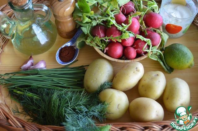 """Картофельный салат с заправкой """"Ранчо"""" домашний рецепт с фотографиями пошагово готовим #1"""