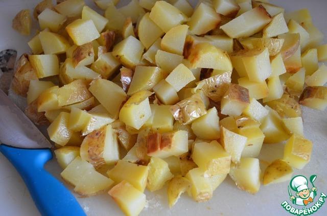 """Картофельный салат с заправкой """"Ранчо"""" домашний рецепт с фотографиями пошагово готовим #5"""