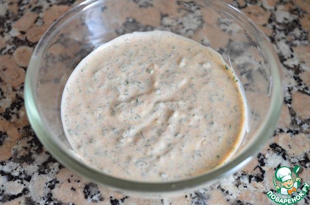 """Картофельный салат с заправкой """"Ранчо"""" домашний рецепт с фотографиями пошагово готовим #7"""