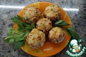 Рецепт Шампиньоны, фаршированные овощами с сыром