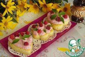 Рецепт Пшенное пирожное с творожным кремом