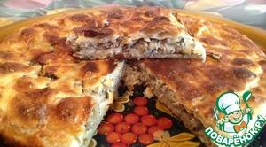 Рецепт Слоеный пирог с рыбой и капустой