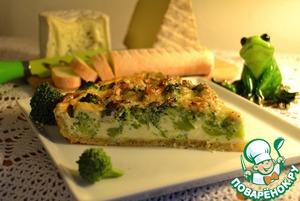 Рецепт Киш с броколи и голубым сыром