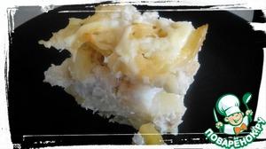 Рецепт Картофельная запеканка с рыбой минтай