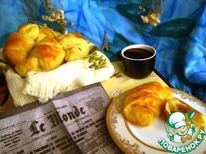 Рецепт Круассаны с миндальной и шоколадной начинкой
