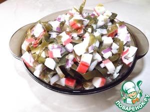 Рецепт Простой салат с морской капустой