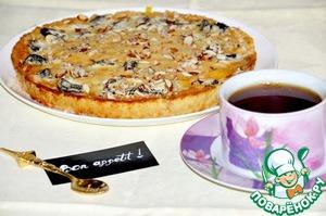 Рецепт Гасконский тарт с черносливом и миндалем